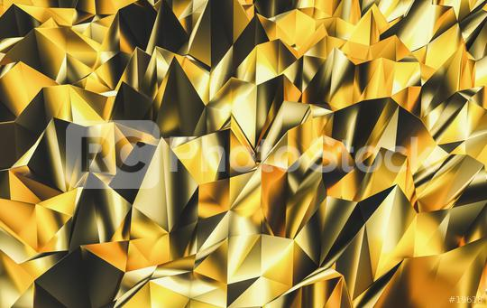 Polygonal triangle abstract golden background - Money Concept Background - 3D Rendering  : Stock Photo or Stock Video Download rcfotostock photos, images and assets rcfotostock   RC-Photo-Stock.: