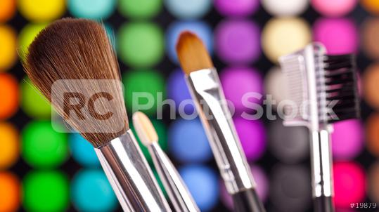 powder brushes  multicolour background  : Stock Photo or Stock Video Download rcfotostock photos, images and assets rcfotostock | RC-Photo-Stock.: