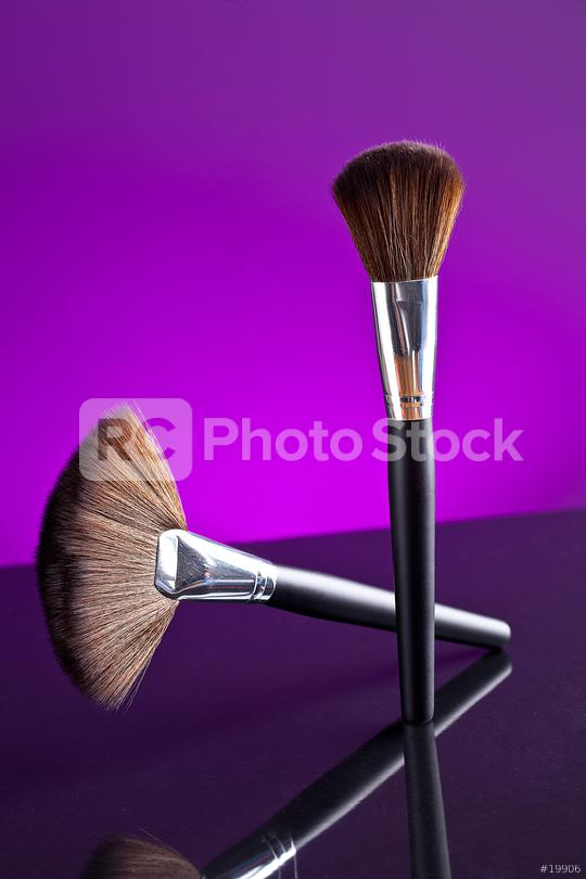 powderbrush on purple background  : Stock Photo or Stock Video Download rcfotostock photos, images and assets rcfotostock   RC-Photo-Stock.: