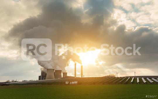 power plant with solar energie and wind power  : Stock Photo or Stock Video Download rcfotostock photos, images and assets rcfotostock | RC-Photo-Stock.: