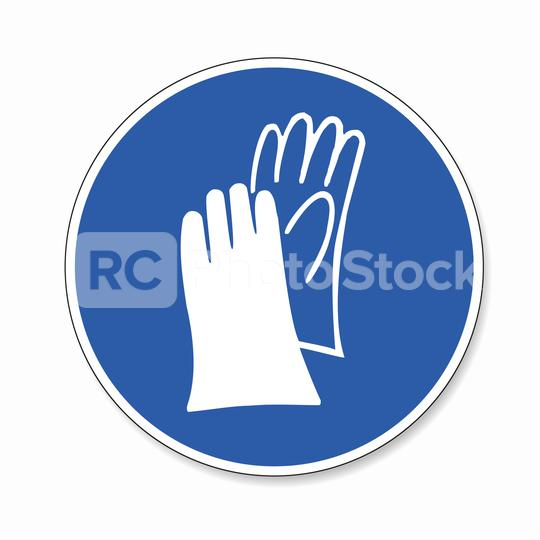 Protective safety gloves must be worn. Wear protective gloves, Protective safety boots must be worn mandatory sign or safety sign, on white background. Vector illustration. Eps 10 vector file.  : Stock Photo or Stock Video Download rcfotostock photos, images and assets rcfotostock | RC-Photo-Stock.: