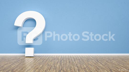 question mark on a blue wall,  including Copy space, FAQ concept image - 3D Rendering  : Stock Photo or Stock Video Download rcfotostock photos, images and assets rcfotostock | RC-Photo-Stock.: