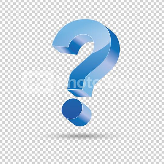 Question mark with blue color, 3D design on checked transparent background. Vector illustration. Eps 10 vector file.  : Stock Photo or Stock Video Download rcfotostock photos, images and assets rcfotostock   RC-Photo-Stock.: