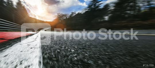Race Car / motorcycle racetrack after rain on a cloudy mixed weather day.  : Stock Photo or Stock Video Download rcfotostock photos, images and assets rcfotostock | RC-Photo-Stock.: