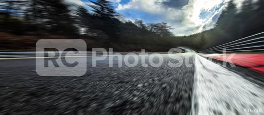 Race Car / motorcycle racetrack after rain on a cloudy mixed weather day.  : Stock Photo or Stock Video Download rcfotostock photos, images and assets rcfotostock   RC-Photo-Stock.: