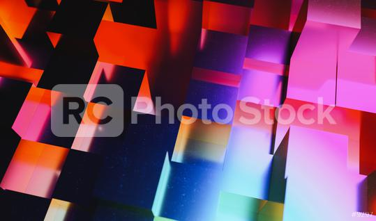 Realistic colorful solid cubes, located in space at different levels. Abstract party gaming disco background   : Stock Photo or Stock Video Download rcfotostock photos, images and assets rcfotostock   RC-Photo-Stock.: