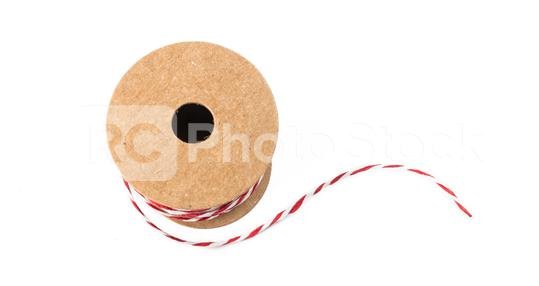 Red and white string twine rope role for christmas gifts   : Stock Photo or Stock Video Download rcfotostock photos, images and assets rcfotostock | RC-Photo-Stock.: