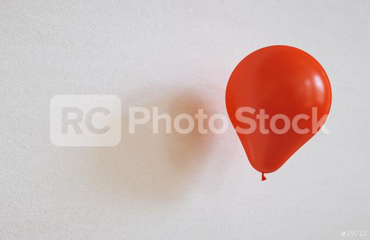 red balloon on a wall - 3D Rendering  : Stock Photo or Stock Video Download rcfotostock photos, images and assets rcfotostock | RC-Photo-Stock.: