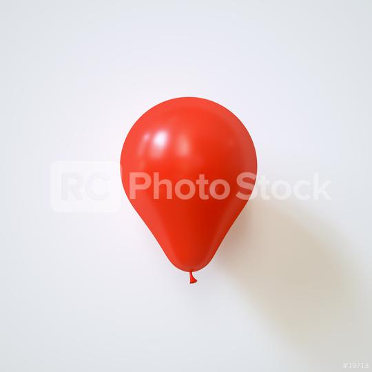 red balloon on a white wall - 3D Rendering  : Stock Photo or Stock Video Download rcfotostock photos, images and assets rcfotostock | RC-Photo-Stock.: