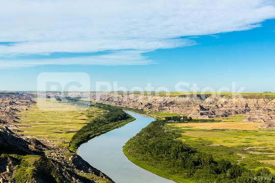 Red Deer River at the canadian badlands valley in canada  : Stock Photo or Stock Video Download rcfotostock photos, images and assets rcfotostock | RC-Photo-Stock.: