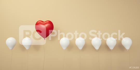 Red heart balloon in a row - 3D Rendering  : Stock Photo or Stock Video Download rcfotostock photos, images and assets rcfotostock | RC-Photo-Stock.: