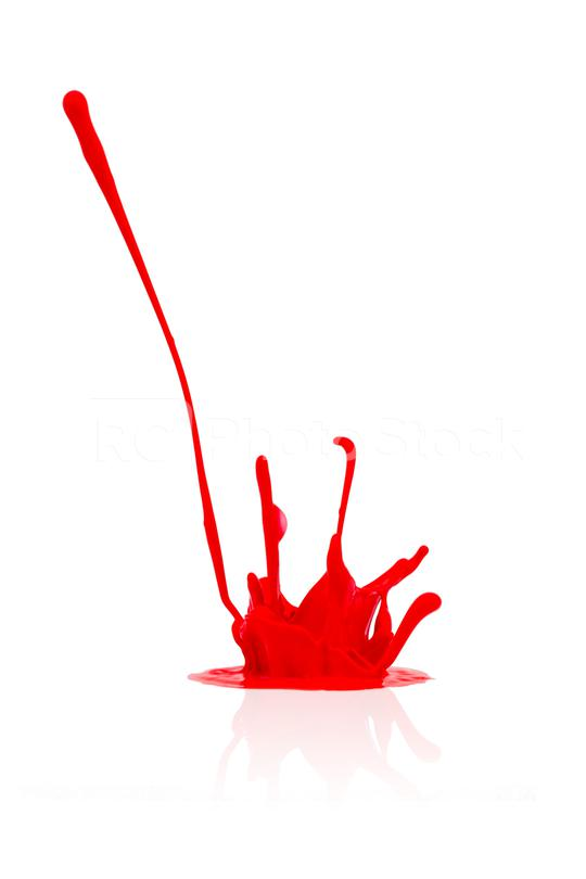 red paint splash isolated on white  : Stock Photo or Stock Video Download rcfotostock photos, images and assets rcfotostock | RC-Photo-Stock.: