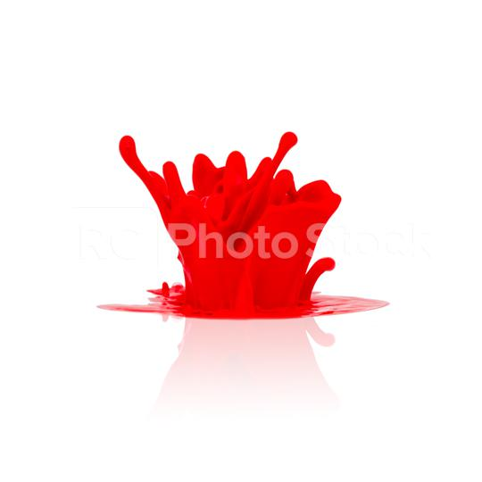 red paint splashing isolated on white  : Stock Photo or Stock Video Download rcfotostock photos, images and assets rcfotostock   RC-Photo-Stock.: