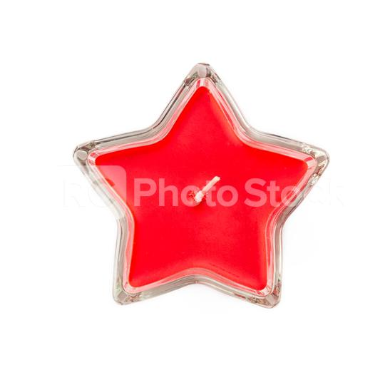 Red star formed candle in glass isolated on white background, christmas or holiday season decoration element  : Stock Photo or Stock Video Download rcfotostock photos, images and assets rcfotostock | RC-Photo-Stock.: