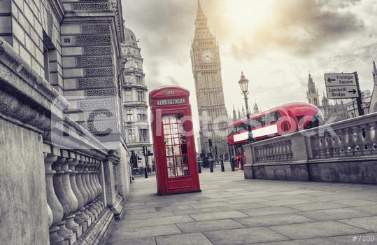 Red telephone booth and Big Ben with bus in London, England, the UK  : Stock Photo or Stock Video Download rcfotostock photos, images and assets rcfotostock | RC-Photo-Stock.: