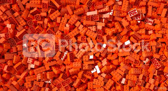 Red toy bricks background - concept image - 3D Rendering Illustration  : Stock Photo or Stock Video Download rcfotostock photos, images and assets rcfotostock | RC-Photo-Stock.: