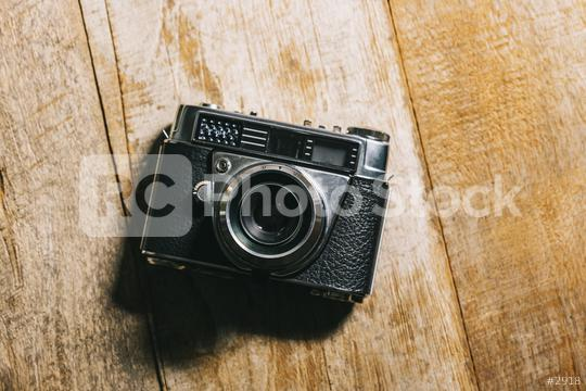 Retro camera on wood table background  : Stock Photo or Stock Video Download rcfotostock photos, images and assets rcfotostock | RC-Photo-Stock.: