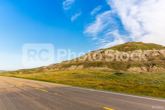 Road to Drumheller badlands in Canada  : Stock Photo or Stock Video Download rcfotostock photos, images and assets rcfotostock   RC-Photo-Stock.: