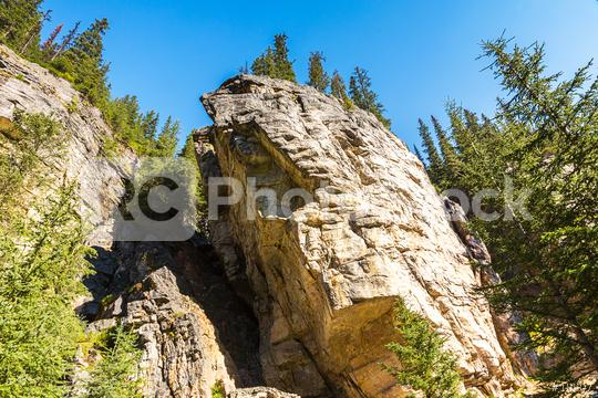 Rockclimbing at lake louise at the banff national park canada  : Stock Photo or Stock Video Download rcfotostock photos, images and assets rcfotostock | RC-Photo-Stock.: