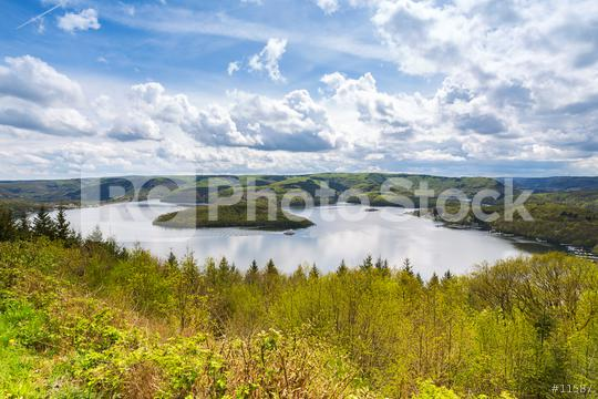 Rursee lake at the Eifel at spring with cloudy sky  : Stock Photo or Stock Video Download rcfotostock photos, images and assets rcfotostock | RC-Photo-Stock.: