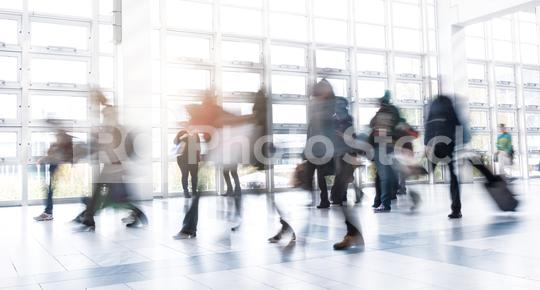 Rush Hour at a trade fair floor  : Stock Photo or Stock Video Download rcfotostock photos, images and assets rcfotostock | RC-Photo-Stock.: