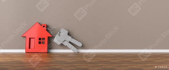 Schlüssel mit Haus an Wand gelehnt  : Stock Photo or Stock Video Download rcfotostock photos, images and assets rcfotostock   RC-Photo-Stock.: