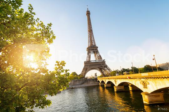 Seine in Paris with Eiffel tower in sunrise time  : Stock Photo or Stock Video Download rcfotostock photos, images and assets rcfotostock | RC-Photo-Stock.: