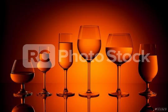 Several alcohol glasses  : Stock Photo or Stock Video Download rcfotostock photos, images and assets rcfotostock | RC-Photo-Stock.: