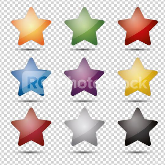 shiny glossy colorful stars set on checked transparent backgroun  : Stock Photo or Stock Video Download rcfotostock photos, images and assets rcfotostock | RC-Photo-Stock.: