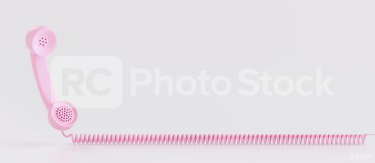 Shot of a pink landline telephone receiver with copy space for individual text  : Stock Photo or Stock Video Download rcfotostock photos, images and assets rcfotostock   RC-Photo-Stock.: