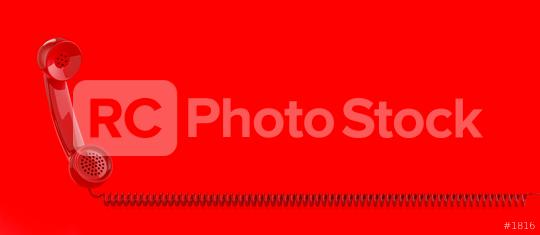 Shot of a red landline telephone receiver with copy space for individual text  : Stock Photo or Stock Video Download rcfotostock photos, images and assets rcfotostock | RC-Photo-Stock.:
