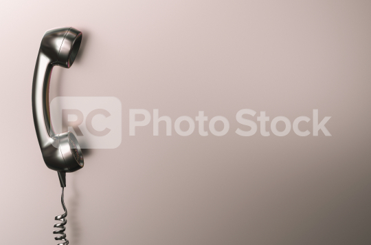 Shot of a Silver metallic landline telephone receiver with copy space for individual text  : Stock Photo or Stock Video Download rcfotostock photos, images and assets rcfotostock | RC-Photo-Stock.: