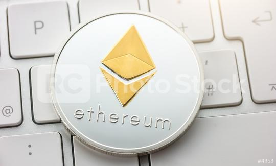Silver ethereum cryptocurrency  : Stock Photo or Stock Video Download rcfotostock photos, images and assets rcfotostock | RC-Photo-Stock.: