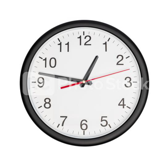 Simple classic black and white round wall clock isolated on white background  : Stock Photo or Stock Video Download rcfotostock photos, images and assets rcfotostock   RC-Photo-Stock.: