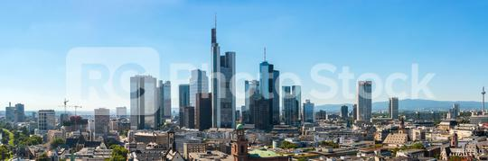 Skyline panorama at center business district in Frankfurt  : Stock Photo or Stock Video Download rcfotostock photos, images and assets rcfotostock | RC-Photo-Stock.: