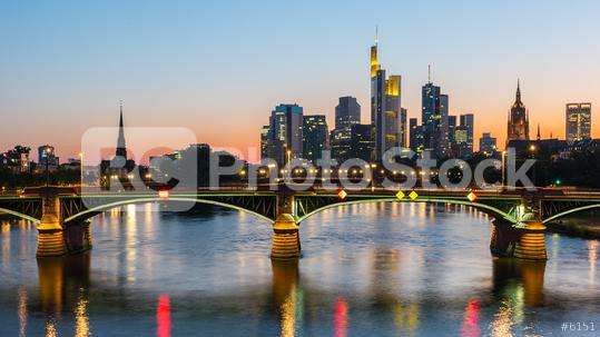 Skyline view of Frankfurt city at sunset, germany  : Stock Photo or Stock Video Download rcfotostock photos, images and assets rcfotostock | RC-Photo-Stock.: