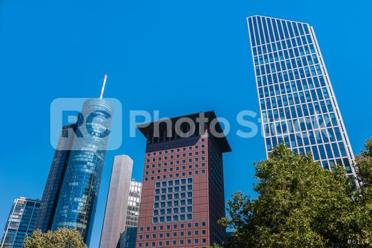 skyscraper buildings at the commercial district at Frankfurt  : Stock Photo or Stock Video Download rcfotostock photos, images and assets rcfotostock   RC-Photo-Stock.: