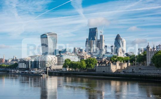 Skyscrapers of the City of London over the Thames , England  : Stock Photo or Stock Video Download rcfotostock photos, images and assets rcfotostock | RC-Photo-Stock.: