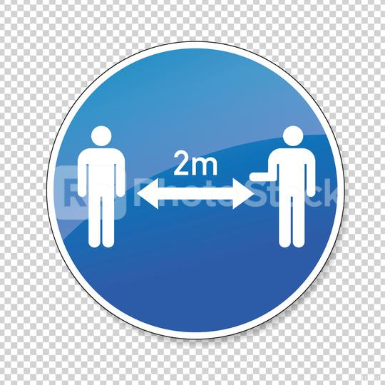 Social Distancing 2 Meter. Coronoavirus safety distance between people sign, mandatory sign or safety sign, on checked transparent background. Vector illustration. Eps 10 vector file.  : Stock Photo or Stock Video Download rcfotostock photos, images and assets rcfotostock | RC-Photo-Stock.: