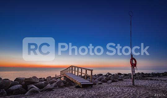 Sonnenaufgang an der Ostsee, Travemünde, Strand, Deutschland  : Stock Photo or Stock Video Download rcfotostock photos, images and assets rcfotostock | RC-Photo-Stock.: