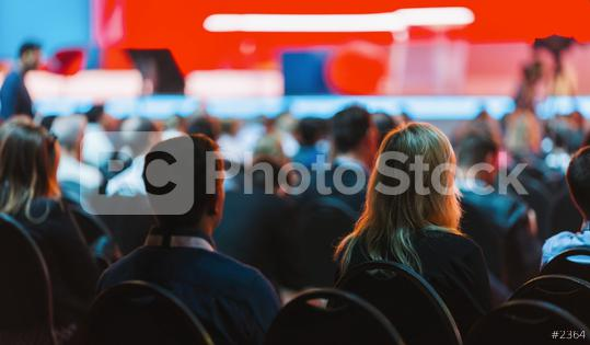 Speaker on the stage with Rear view of Audience in the conference hall or seminar meeting, business and education concept  : Stock Photo or Stock Video Download rcfotostock photos, images and assets rcfotostock | RC-Photo-Stock.: