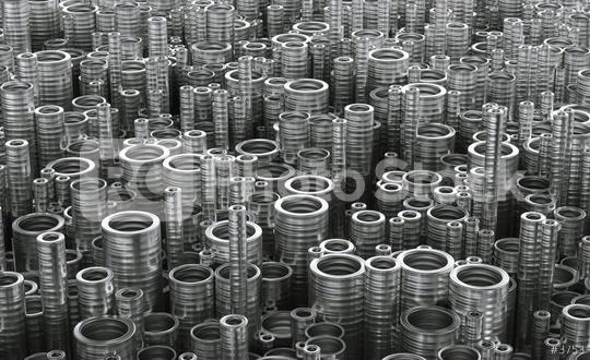 Stack of Steel Metal Tubes with Light Breaking Through a Pipes. Abstract Industrial Background. 3d illustration, 3d rendering  : Stock Photo or Stock Video Download rcfotostock photos, images and assets rcfotostock | RC-Photo-Stock.:
