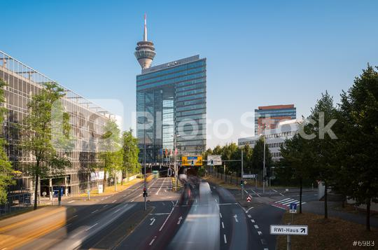 Stadttor into the city tunnel of Dusseldorf at rush hour  : Stock Photo or Stock Video Download rcfotostock photos, images and assets rcfotostock | RC-Photo-Stock.: