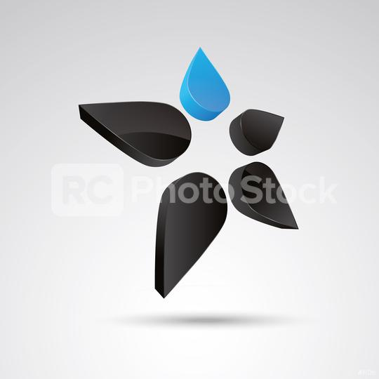 star 3d vector icon as logo formation in black and blue glossy colors, Corporate design. Vector illustration. Eps 10 vector file.  : Stock Photo or Stock Video Download rcfotostock photos, images and assets rcfotostock   RC-Photo-Stock.: