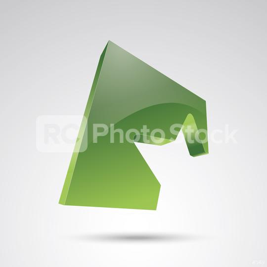 star logo silhouette in a green cube glossy 3D style trophy star icon. Symbol of leadership or rating. Vector illustration. Eps 10 vector file.  : Stock Photo or Stock Video Download rcfotostock photos, images and assets rcfotostock | RC-Photo-Stock.: