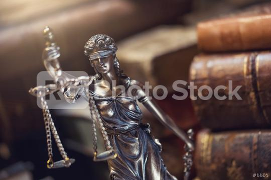 Statue of justice with old books  : Stock Photo or Stock Video Download rcfotostock photos, images and assets rcfotostock | RC-Photo-Stock.: