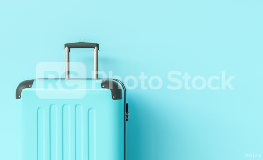 Suitcase on blue background. travel concept, with copy space for individual text  : Stock Photo or Stock Video Download rcfotostock photos, images and assets rcfotostock | RC-Photo-Stock.: