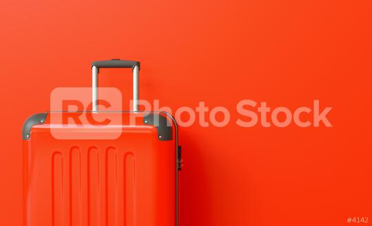 Suitcase on red background. travel concept, with copy space for individual text  : Stock Photo or Stock Video Download rcfotostock photos, images and assets rcfotostock | RC-Photo-Stock.: