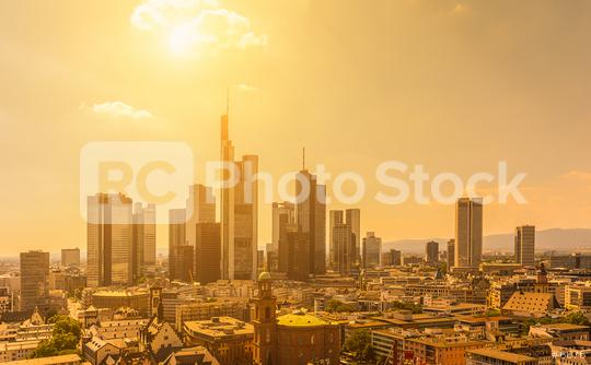 Summer view of the skyline of Frankfurt, Germany  : Stock Photo or Stock Video Download rcfotostock photos, images and assets rcfotostock | RC-Photo-Stock.: