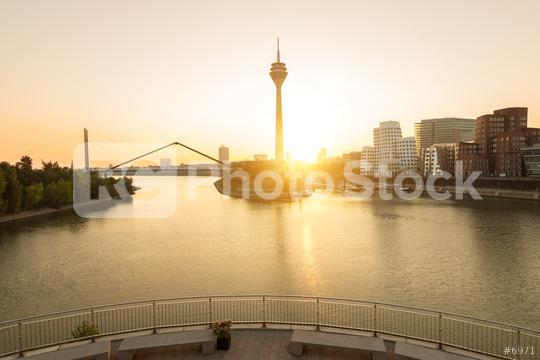 sunrise at Dusseldorf media harbor  : Stock Photo or Stock Video Download rcfotostock photos, images and assets rcfotostock | RC-Photo-Stock.: